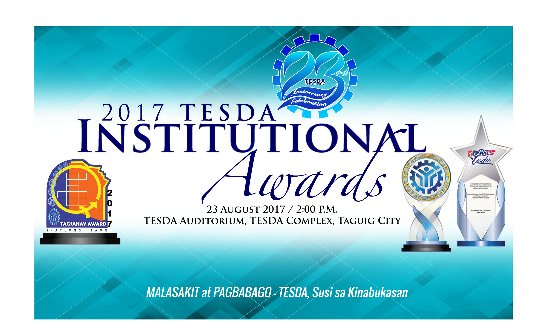 TESDA Institutional Awards 2017